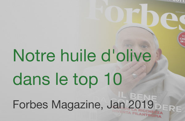 Forbes Magazine Frantoio Oil Top 10 January 2019